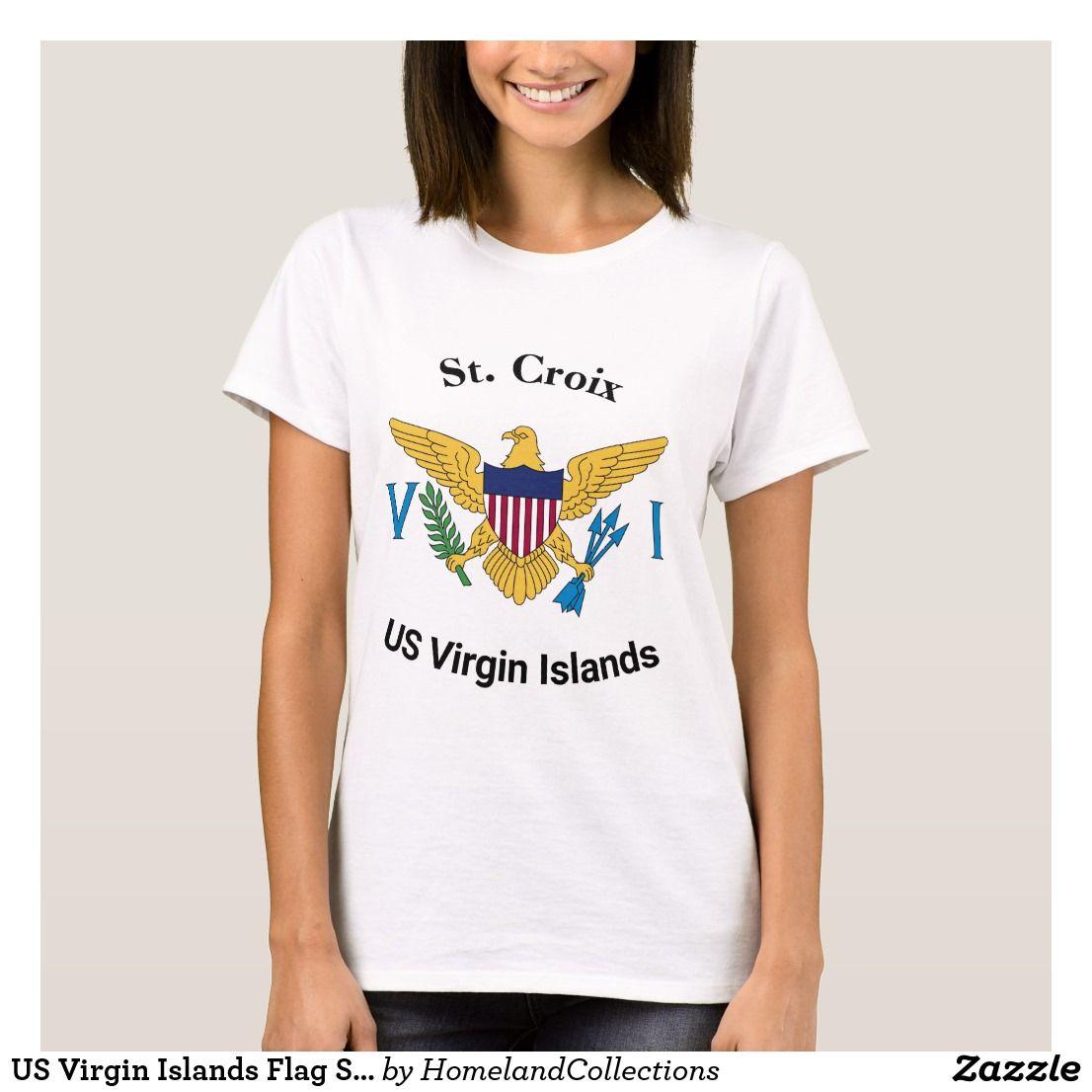 Us Virgin Islands Flag St Croix Usvi T Shirt Zazzle Com Virgin Islands Flag Us Virgin Islands Virgin Islands