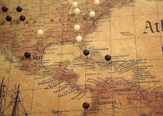 World travel map pin board wpush pins golden aged travel maps world travel map pin board wpush pins golden aged gumiabroncs Choice Image