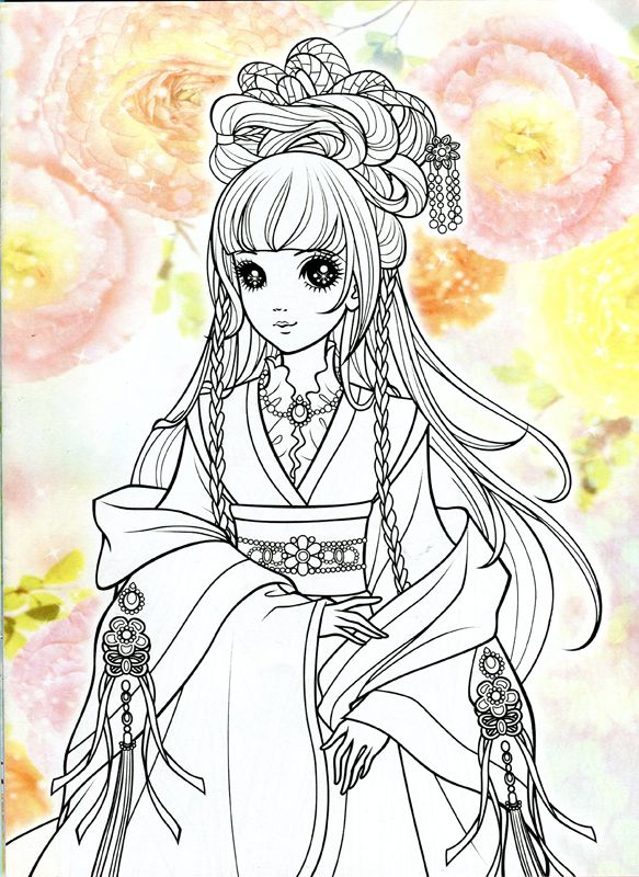 Korean coloring book red mama mia picasa web albums coloriages girly et - Coloriage manga livre ...