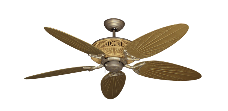"""The Tiki Ceiling Fan in Antique Bronze with 52"""" Outdoor"""