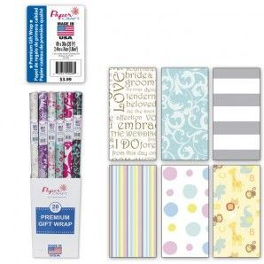 Beautiful selection of baby/wedding gift wrap