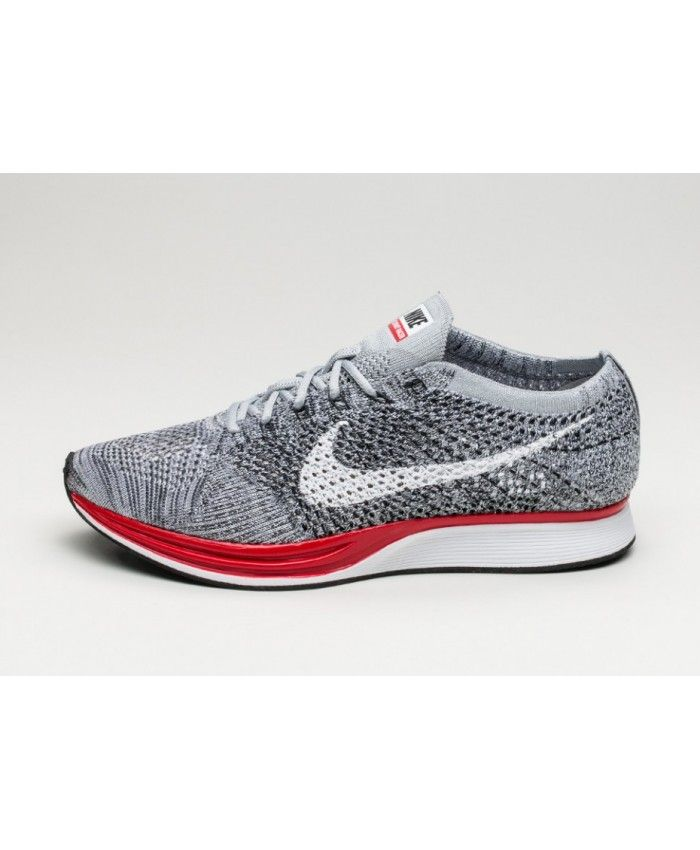 meet 77ff8 29bc3 Nike Flyknit Racer Homme Gris Rouge