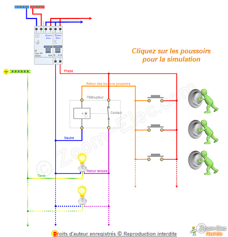 Schema Telerupteur 4 Fils Schema Electrique Electrique Plan Electrique Maison