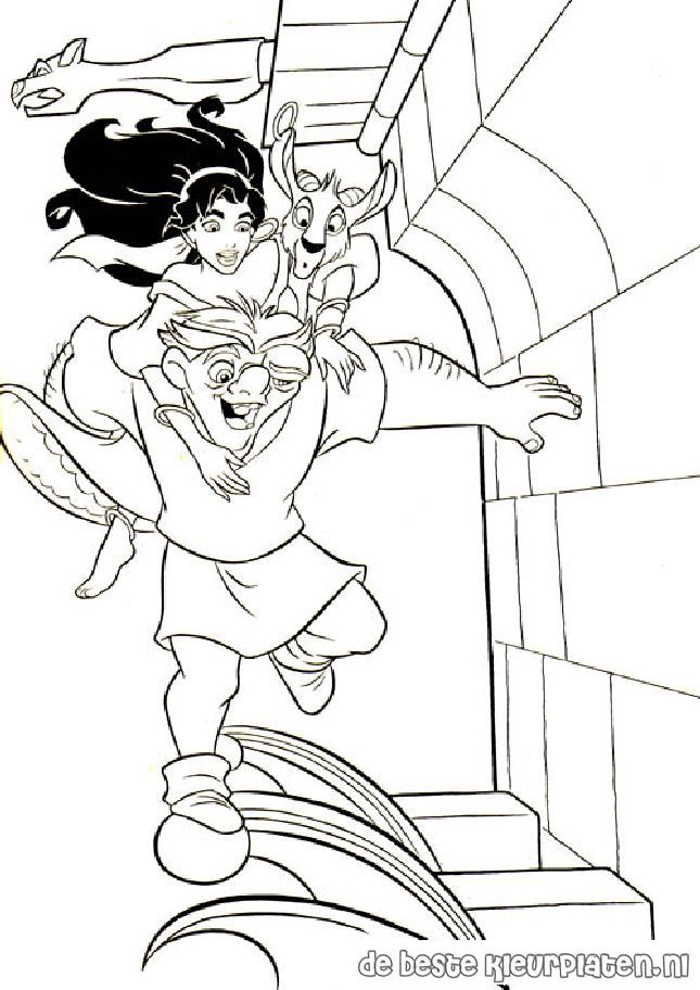 The Hunchback Of Notre Dame Coloring Pages Google Sogning Coloring Pages Disney Coloring Pages Colouring Pages