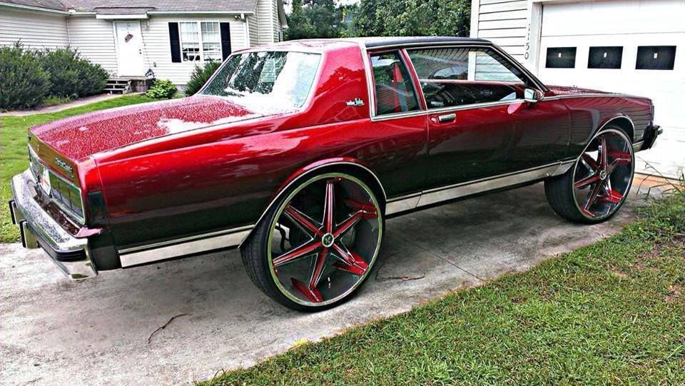 BOX CHEVY CAPRICE CLASSIC SITTING ON DUB 28's - Big Rims - Custom