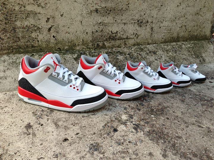official photos 94ee1 b5215 jordan 3 fire red baby