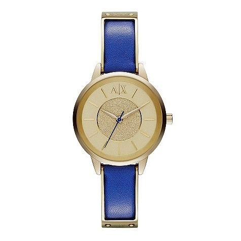 Loving how bright the cobalt blue looks against the gold www.hsamuel.co.uk