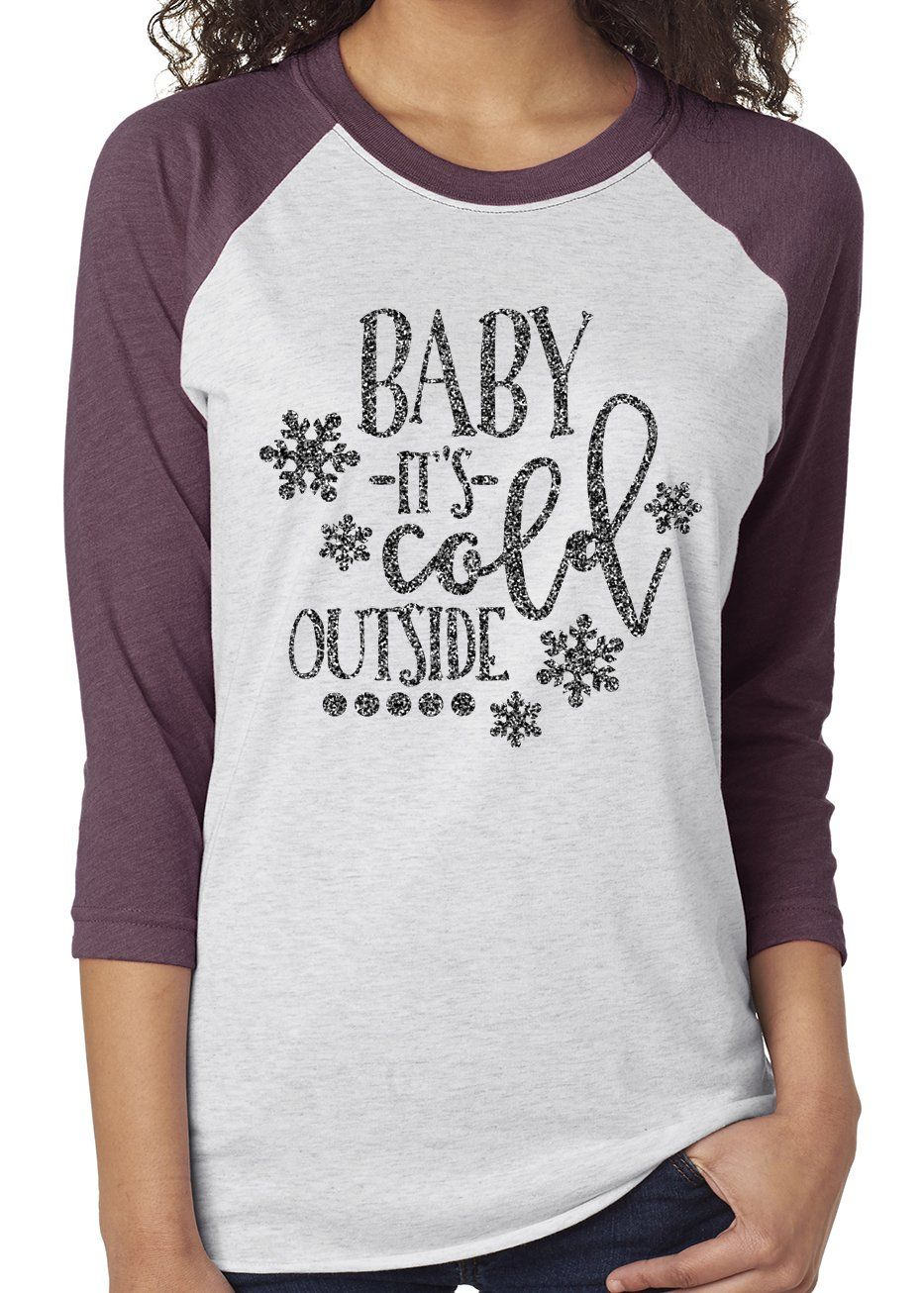 Baby It S Cold Outside Glittery Triblend Raglan Products