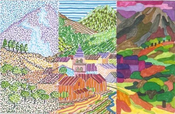 Tema 5 Elementos Plasticos Y Visuales Juansanisidoro Dibujo Con Lineas Imagenes De Arte Trabajos De Arte