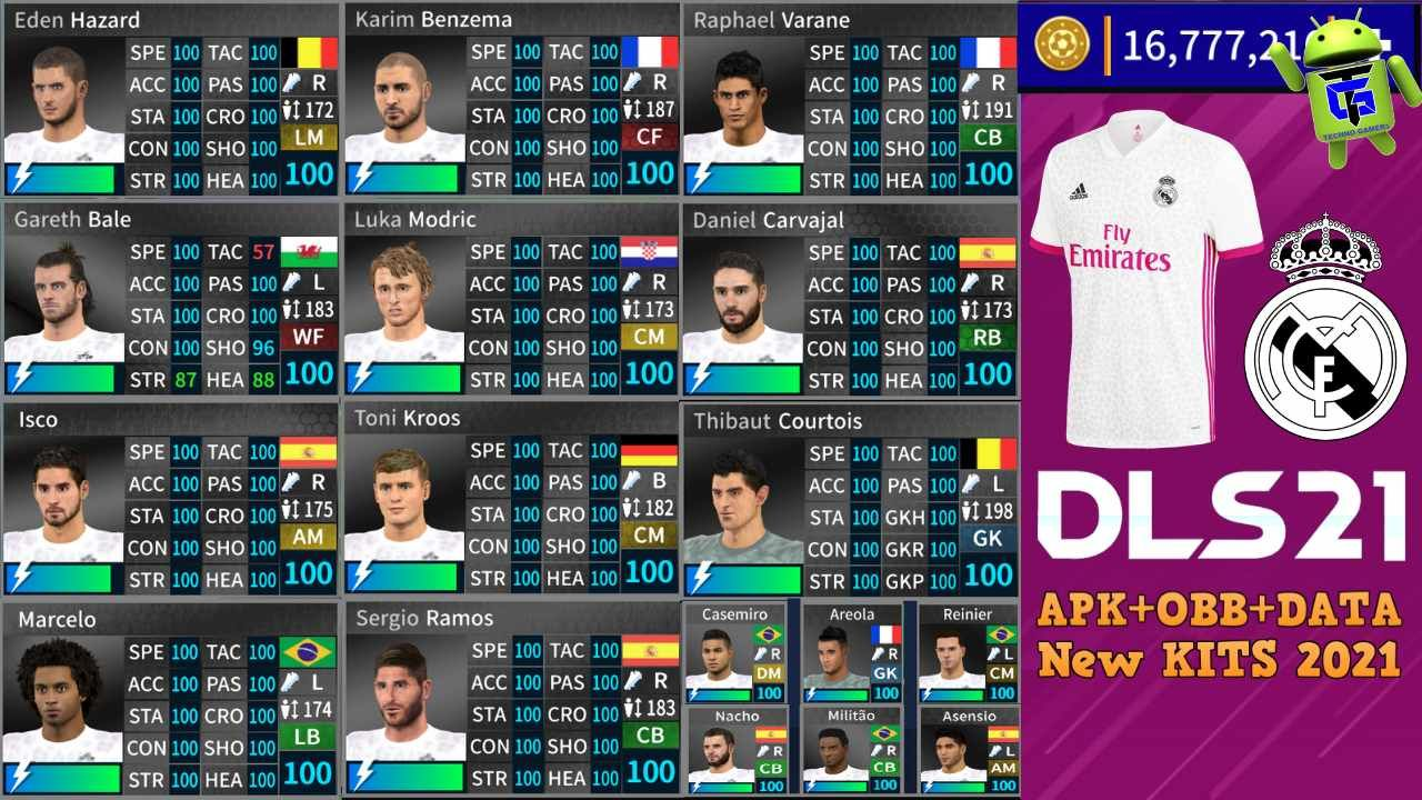 Free Download Dream League 2021 Dls 21 Mod Apk Real Madrid Team Unlimited Money New Kits 2021 And New Trans In 2020 Real Madrid Kit Real Madrid Real Madrid Players