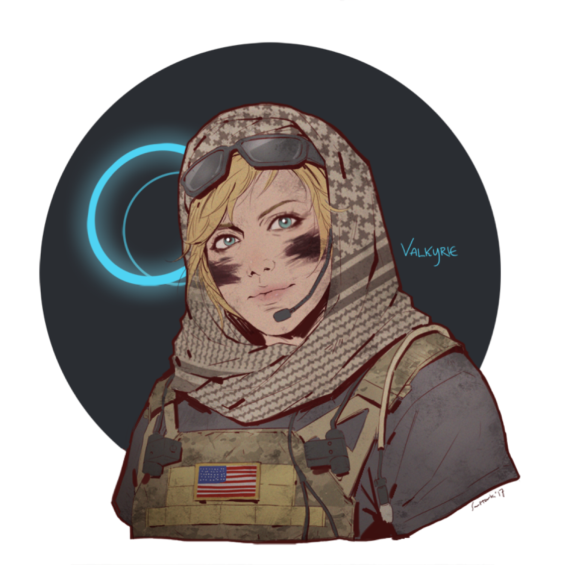 Valkyrie by @cpt_sunstark on Twitter | Rainbow Six Siege