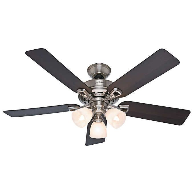 Hunter 52 3 Light Ceiling Fan With Remote Hunter Ceiling Fans