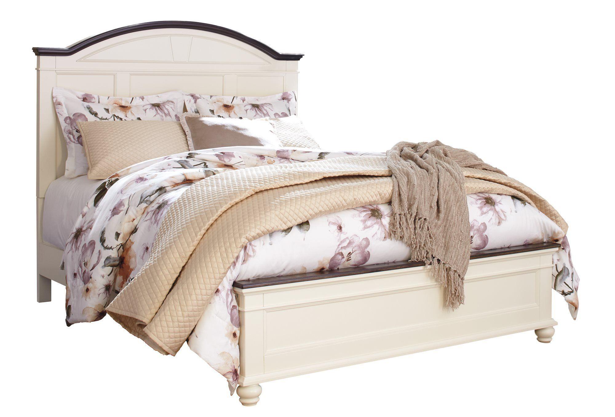 Ashley Woodanville 4pc Bedroom Set Queen Panel Bed Dresser Mirror One Nightstand In Bedroom