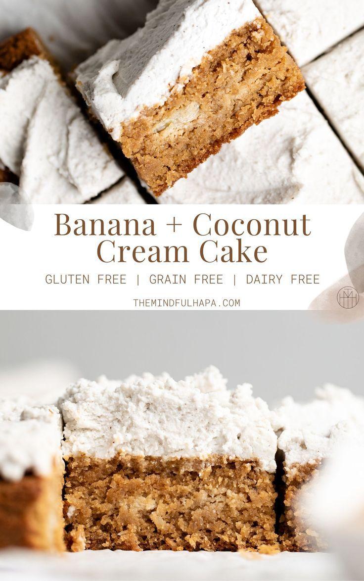 Easy Banana & Coconut Cream Cake Recipe in 2020