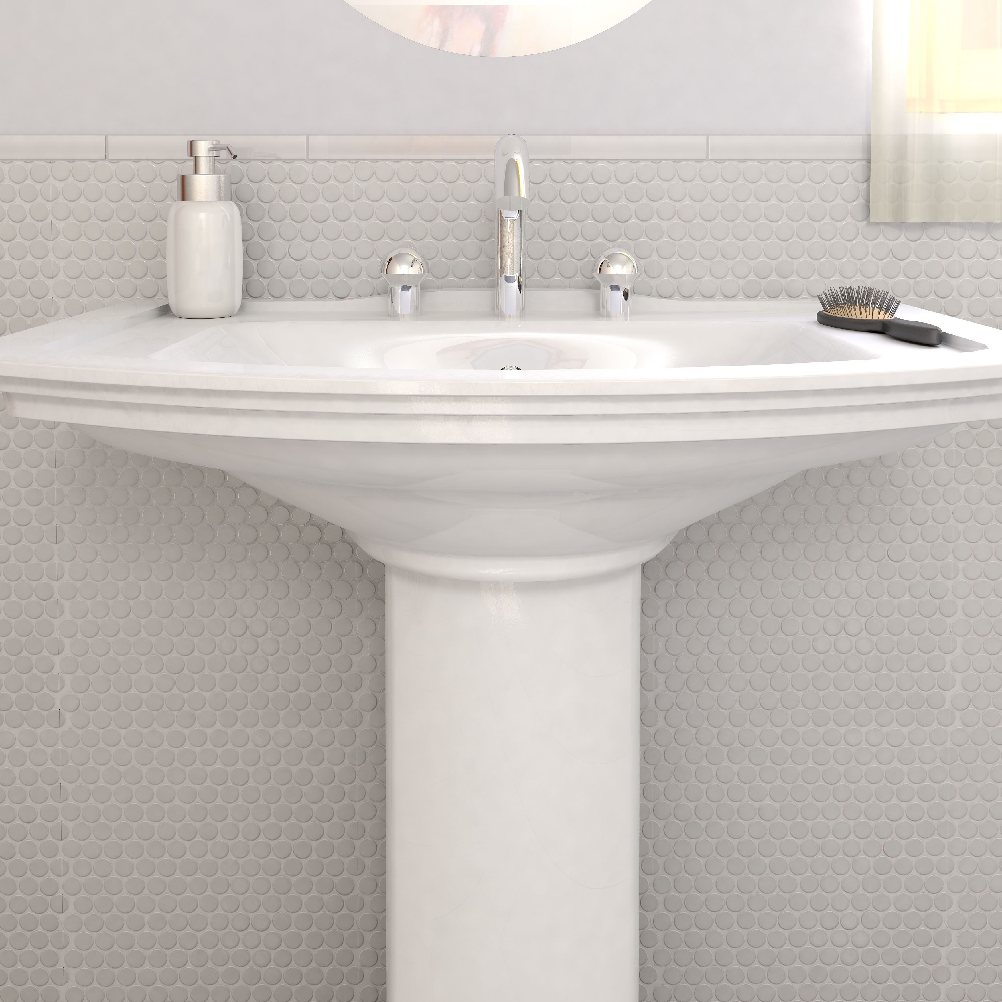 Personalize any tiled area of your home with these white easy-to ...