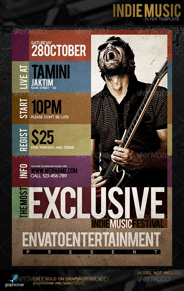 Indie Music Flyer Template | Music Flyer, Indie Music And Flyer