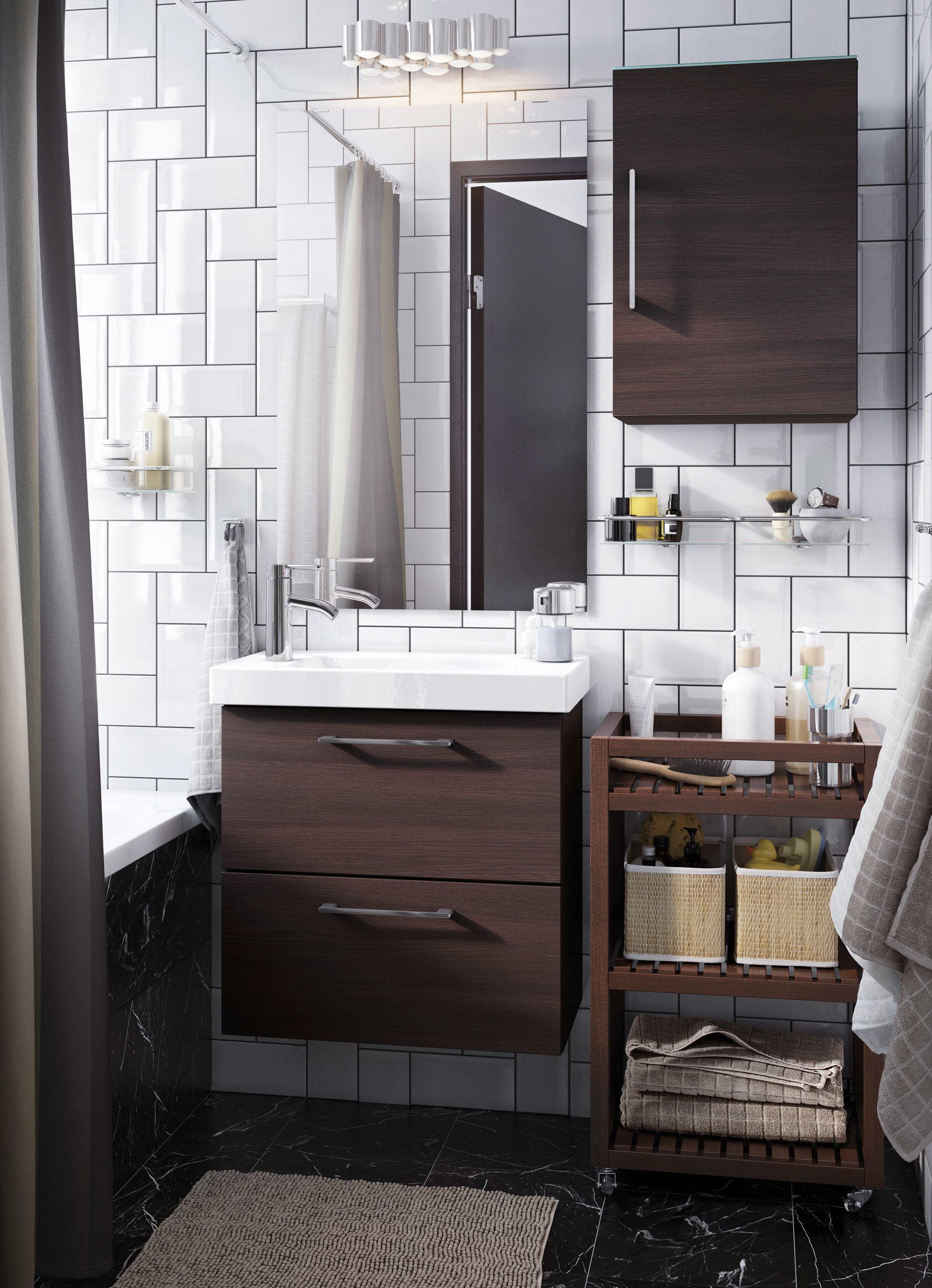 A Gallery Of Bathroom Inspiration Ikea Bathroom Small White Bathrooms Bathroom Cabinets Ikea