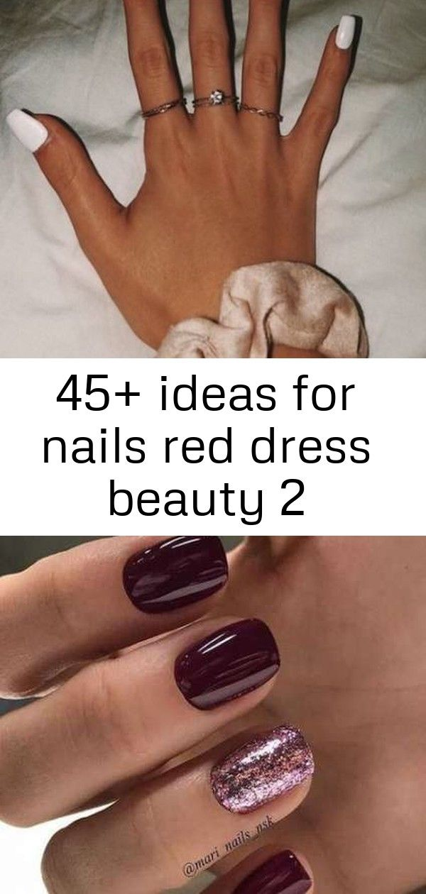 45+ ideas for nails red dress beauty 2