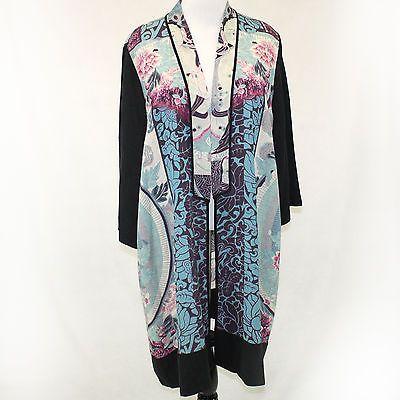 244815f0e88 NWT Citron Clothing Buddha Enchanted Blessing 100% Silk Cardigan Blouse 1X  2X 3X