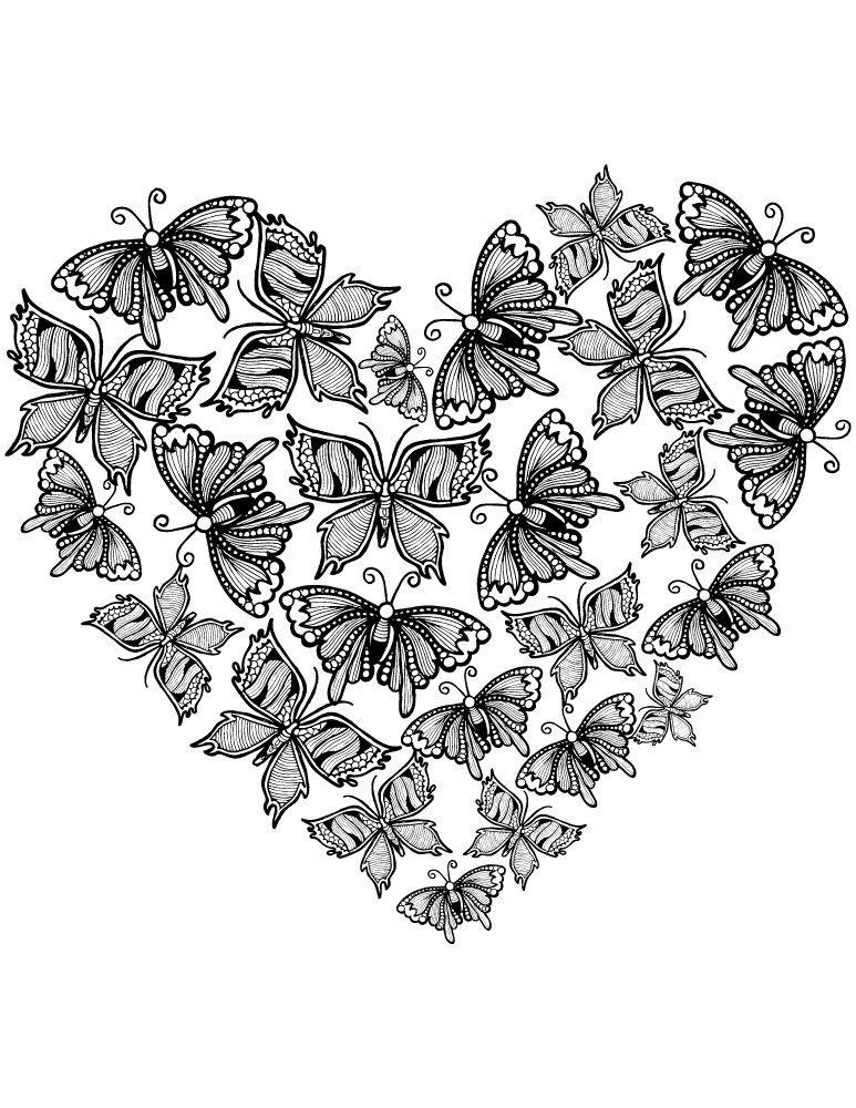 Image de coeur d amour gratuit très difficile à imprimer | Pinterest ...