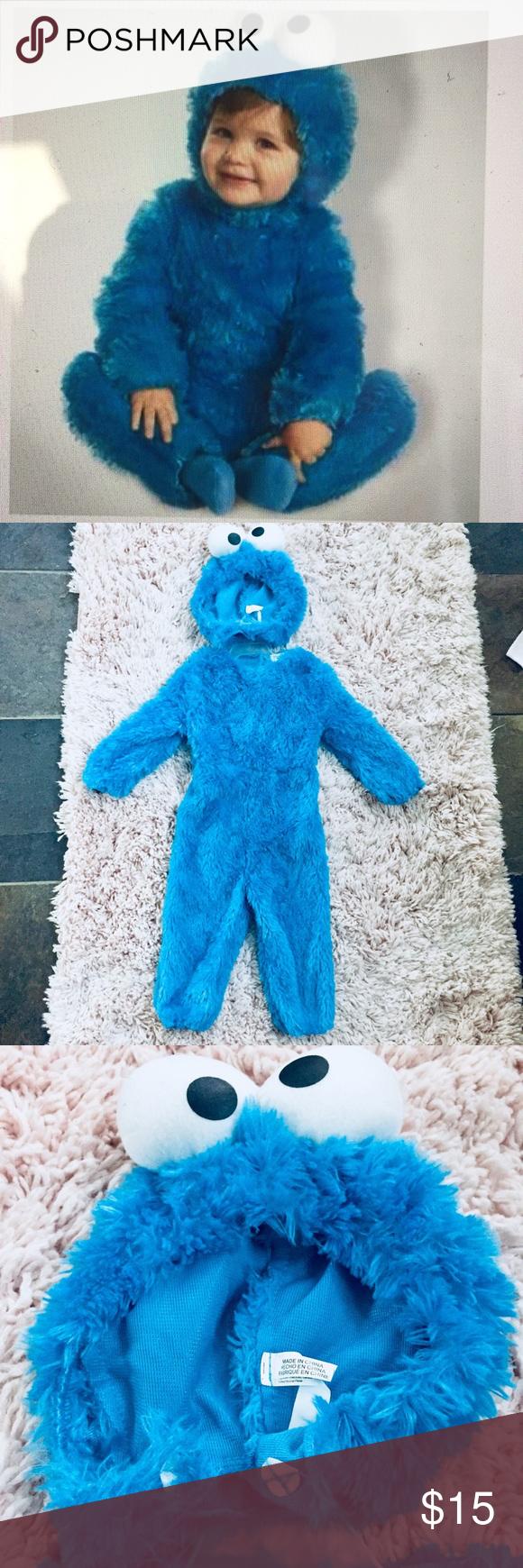 Baby Cookie Monster Halloween Costume 6 9 Months Cookie Monster Halloween Costume Baby Cookie Monster Monster Cookies Halloween