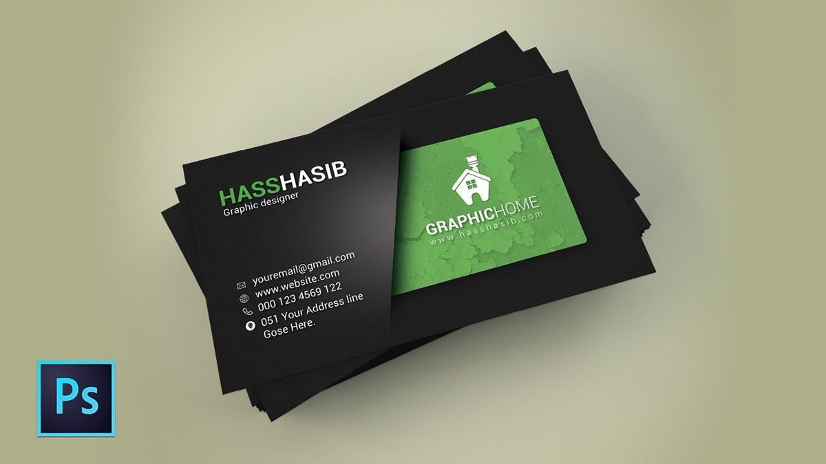 Business Card Design In Photoshop Cc On Behance In Visiting Card Templates For Photoshop Profes Visiting Card Templates Business Card Tutorial Visiting Cards