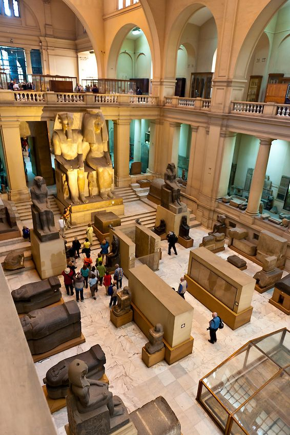 Interior view of the Egyptian Museum, Cairo, Egypt. I want