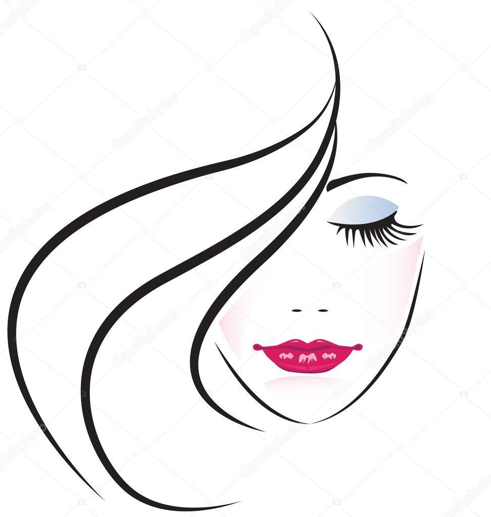 Download Face Of Pretty Woman Silhouette Vector Stock Illustration Woman Fashion Girl Logo Cosmetics Face Woman Silhouette Art Silhouette Vector