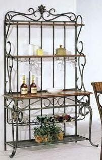 Acme Metal Craft Baker S Rack Oak Wood