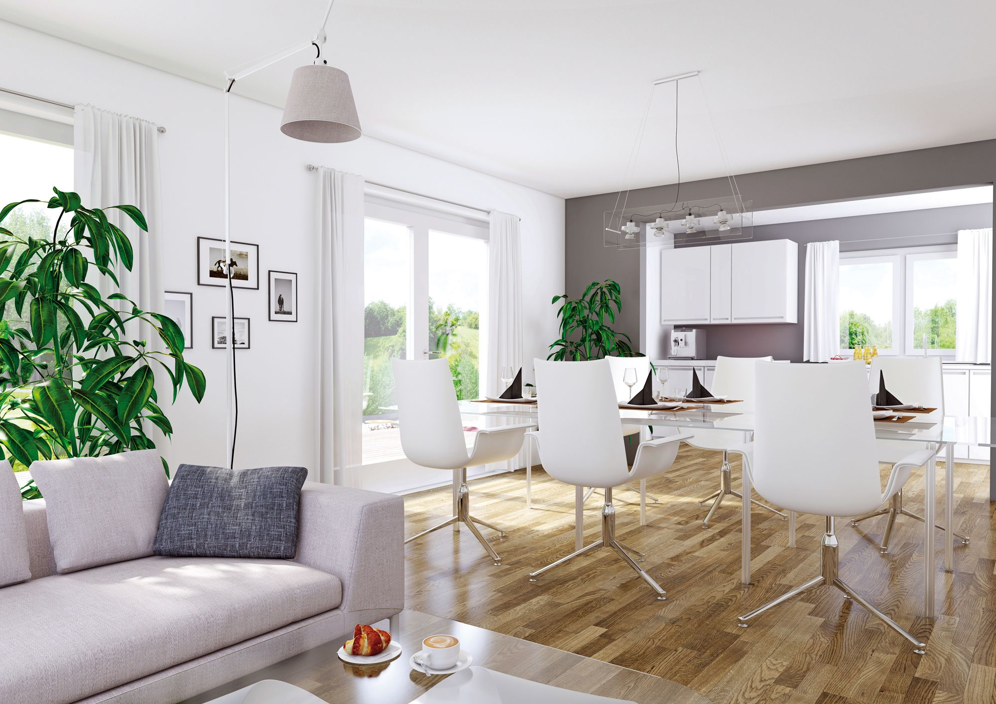 offener und heller wohnbereich im elk living 151 | elk wohnideen, Hause deko