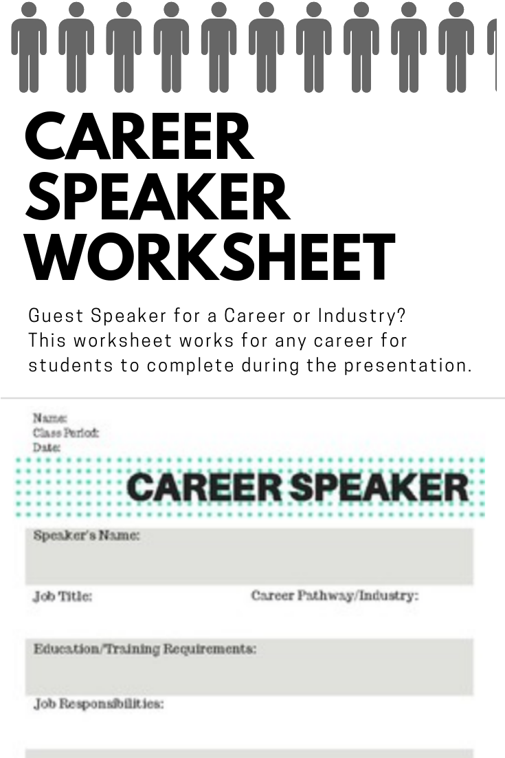 Career Speaker Worksheet Career Day Family And Consumer Science Health Careers