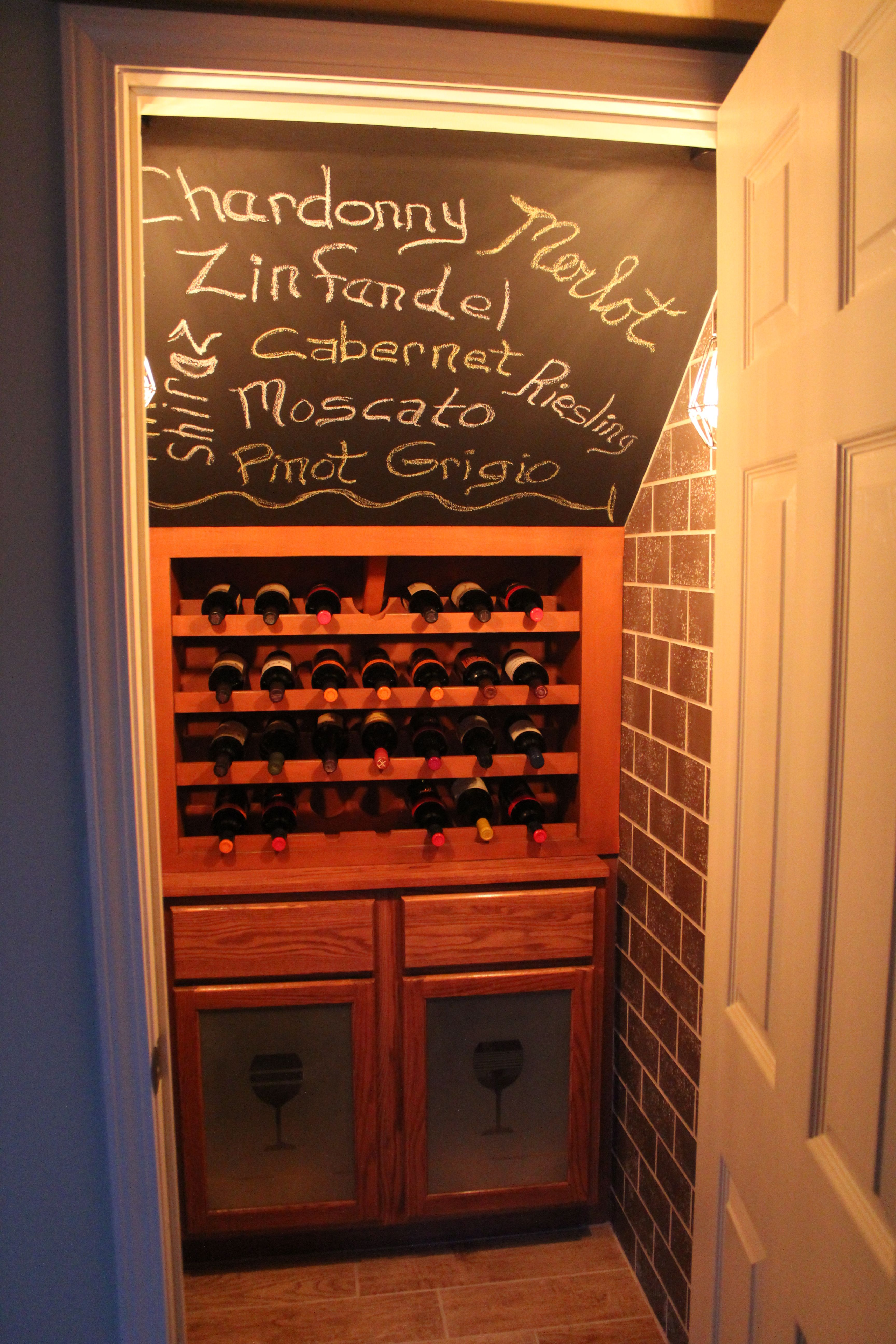 Wine Closet. A Great Way To Utilize The Under The Stairs Space! The Wooden