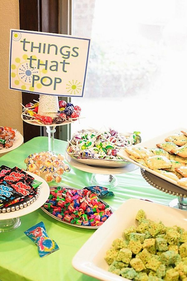 Things that pop baby shower theme
