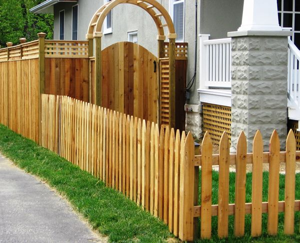 I Like The Archway Fenced In Pinterest Fences Wood
