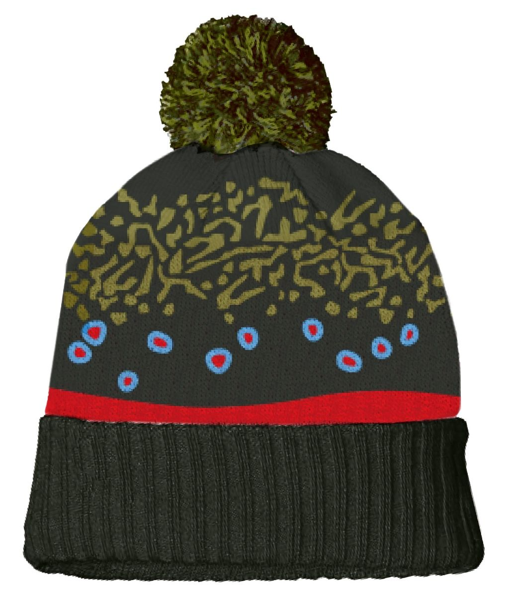 RepYourWater Brook Trout Skin Knit Hat and other RepYourWater Fly Fishing  Headwear at Fishwest 5f2c38c13834