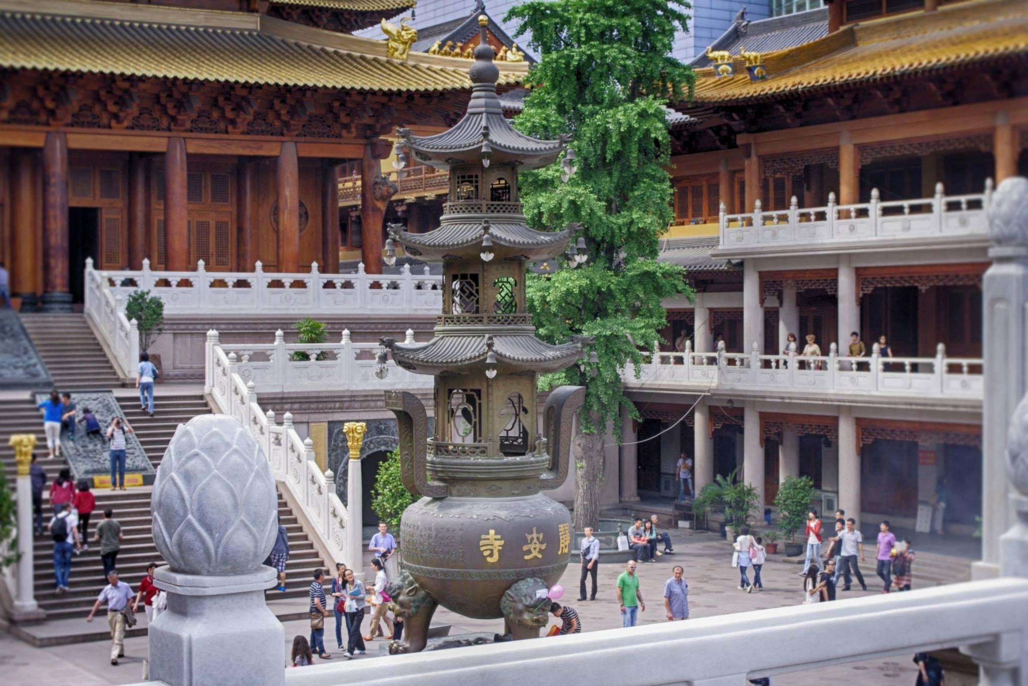 Jingan temple shanghai china