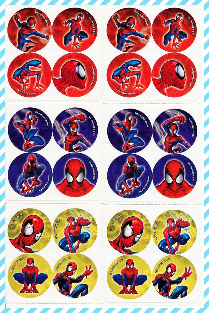 Marvel Avengers Stickers x 8 Favours Birthday Party Loot Bags Marvel Sticker