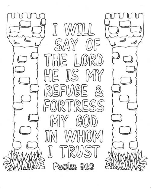 Psalm 91 2 Coloring Page Pdf My Hall Closet Psalms Psalm 91 Quote Coloring Pages