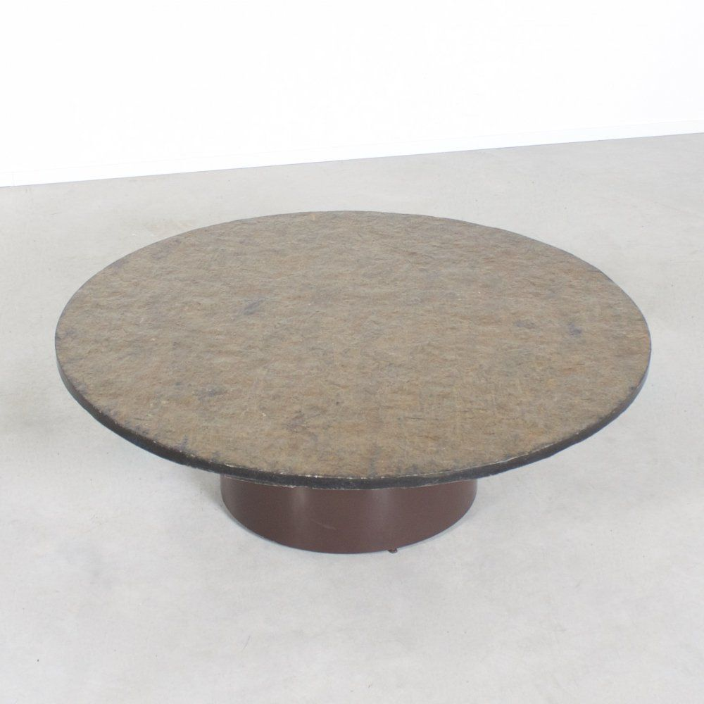 1970s Antique Marble Round Coffee Table Stone Coffee Table Round Coffee Table Marble Top Coffee Table