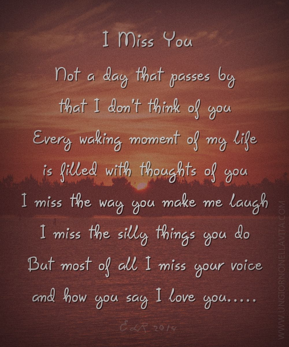 I Miss You Poem 20 Smart I Miss You Poems Projects To Try
