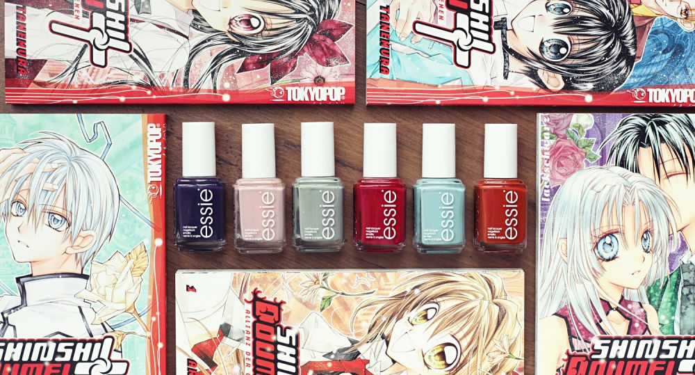 essie | manga | shinshi doumei cross | nails | playing koi kollektion | japan | essieliebe | lackschwarz