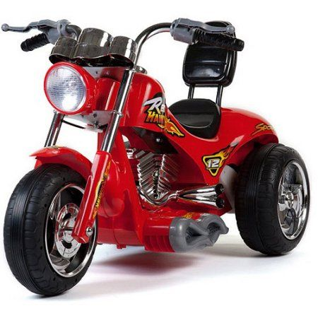 Mini Motos 12V Red Hawk Motorcycle, Red