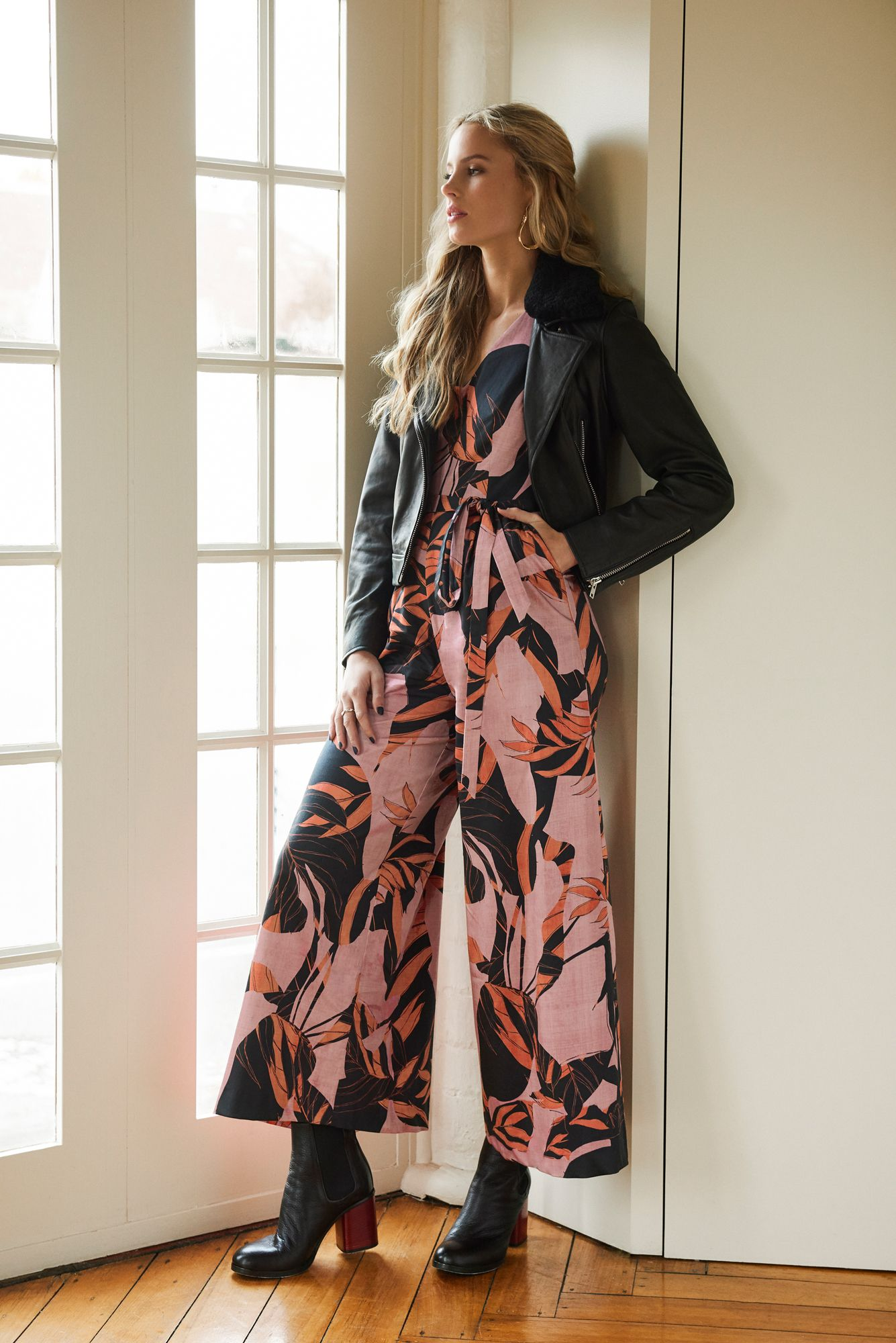 Mesop James Leather Jacket Noir Print Jumpsuit Autumn 2018 Designed In Melbourne Since 2015 Available In Boutiques A How To Wear Clothes For Women Mesop