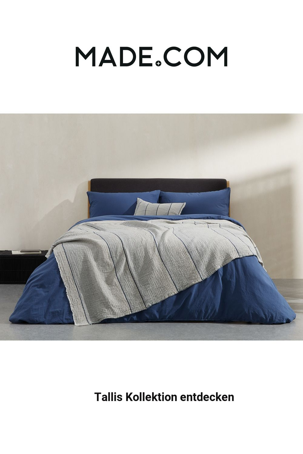 Made Tagesdecke Blau In 2020 Bed Throws Cotton Bedding Bed