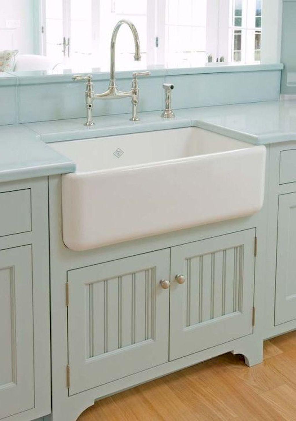 Best rustic kitchen sink farmhouse style ideas Rustic kitchen