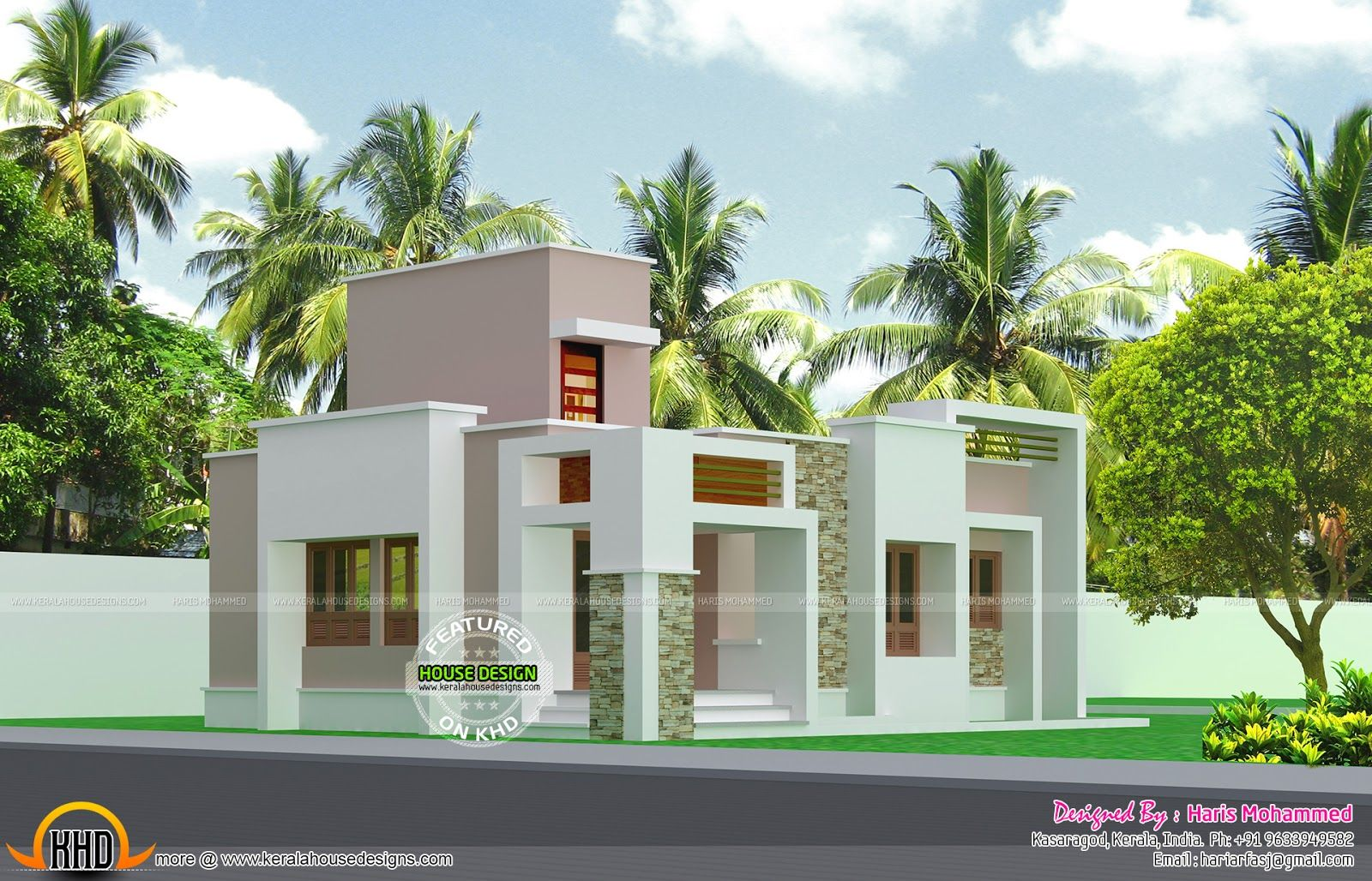 box type low bud home kerala design and floor plans october