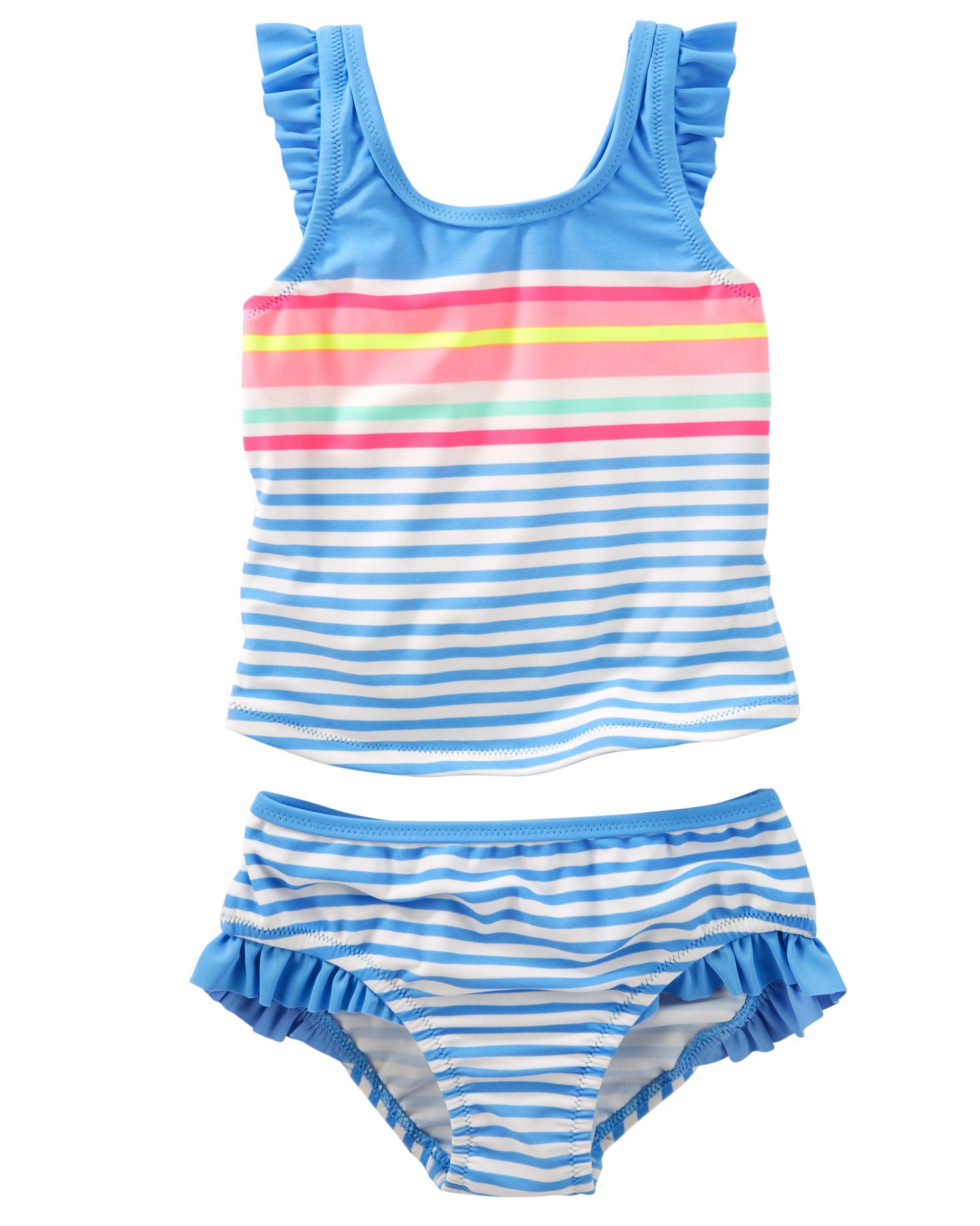 691d87b58f Baby Girl OshKosh Striped Ruffle Tankini | Carters.com | summer '18 ...