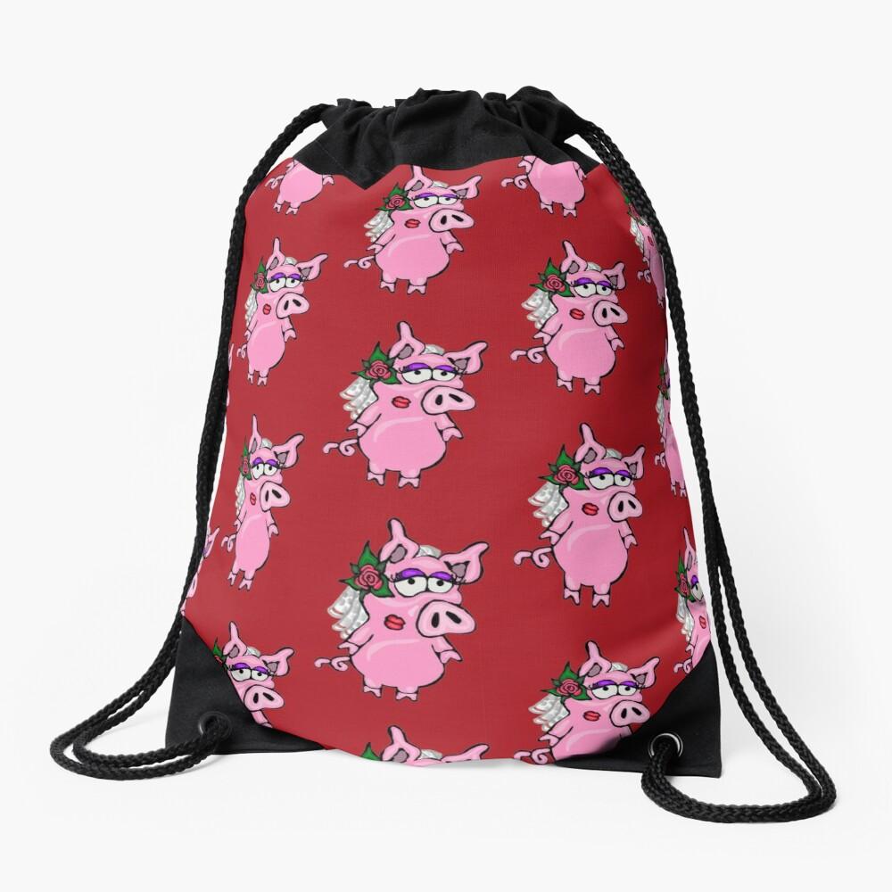 Drawstring Backpack Valentines Day Owl Rucksack
