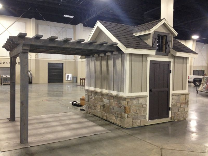 i d like a storage shed with a separate covered area for outdoor