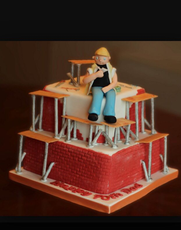 Scaffold Cake Torty Cake Birthday Cake Cake Decorating